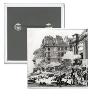 Shoot-out before St. Roch church in Paris 2 Inch Square Button