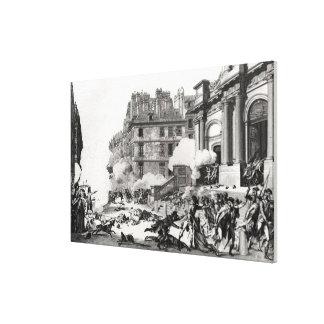 Shoot-out before St. Roch church in Paris Canvas Print