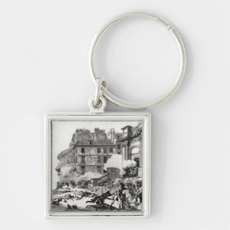 Shoot-out before St. Roch church in Paris Keychain