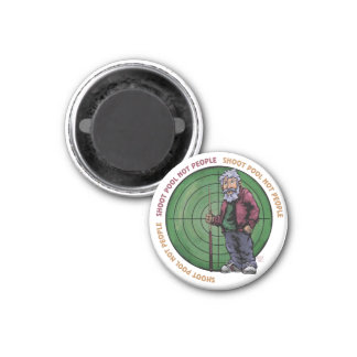 Shoot Pool Not People 1 Inch Round Magnet