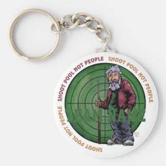 Shoot Pool Not People Basic Round Button Keychain