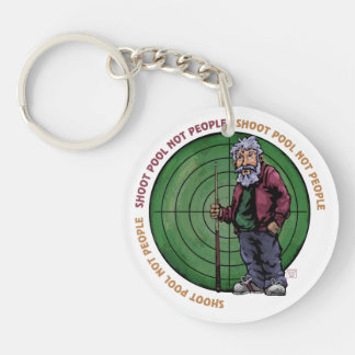 Shoot Pool Not People Single-Sided Round Acrylic Keychain