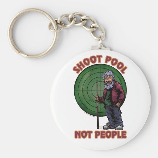 Shoot pool Not People Keychains