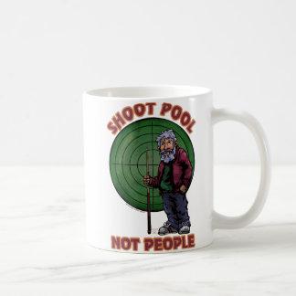 Shoot pool Not People Coffee Mugs