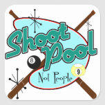Shoot Pool, Not People! Stickers