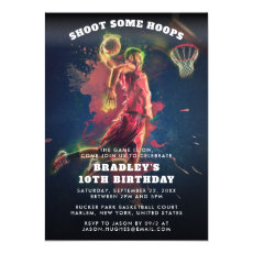 Shoot Some Hoops | Basketball Birthday Invitation