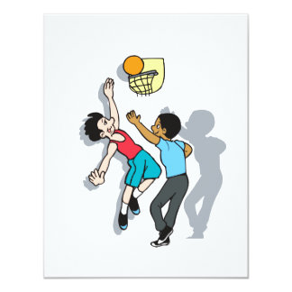 "Shoot Some Hoops 4.25"" X 5.5"" Invitation Card"
