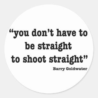 Shoot Straight Classic Round Sticker