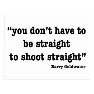 Shoot Straight Postcard