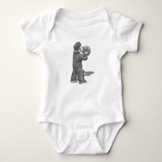 Shoot the ball gray baby bodysuit