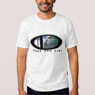 Shoot the tube, surfing design t-shirt