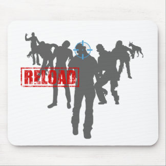 Shoot The Zombies - Shotgun Reload Game Gamer Mouse Pad