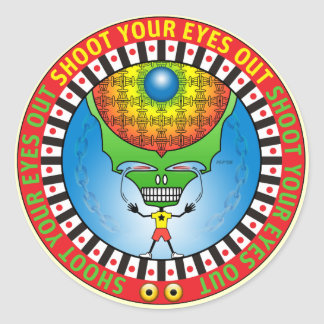 Shoot Your Eyes Out Stickers