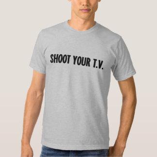 Shoot Your TV T-shirt