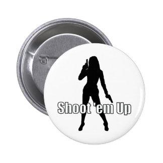 Shoot'em Up Pinback Buttons