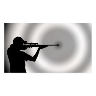 Shooter and Target Business Card