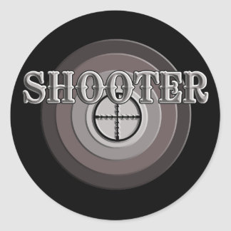 Shooter Classic Round Sticker