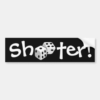 Shooter! - Dice Bumper Sticker