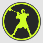 Shooter-green Classic Round Sticker