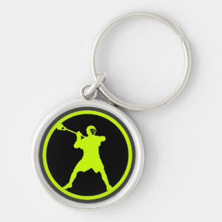 Shooter-green Silver-Colored Round Keychain