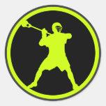 Shooter-green Round Sticker