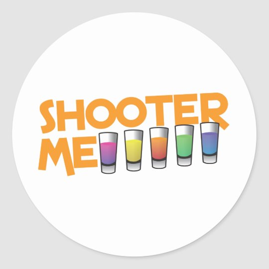 shooter me classic round sticker
