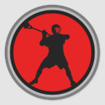 Shooter-red Classic Round Sticker