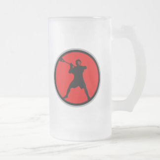 Shooter-red Frosted Glass Beer Mug
