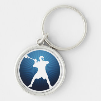 Shooter Silver-Colored Round Keychain