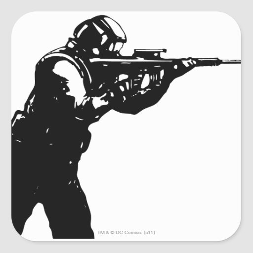 Shooter Square Sticker