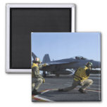 Shooters aboard the USS George HW Bush 2 Inch Square Magnet