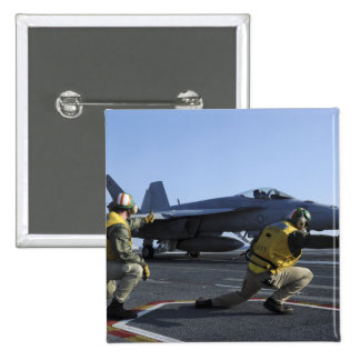 Shooters aboard the USS George HW Bush 2 Inch Square Button