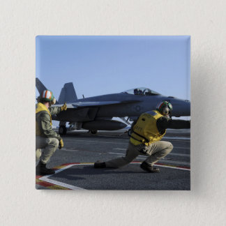 Shooters aboard the USS George HW Bush Pinback Button