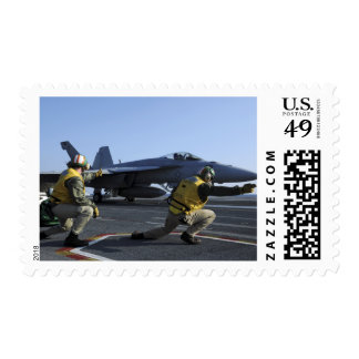 Shooters aboard the USS George HW Bush Postage Stamp