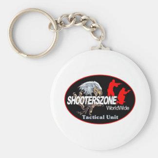Shooterszone por todo el mundo 2 llavero redondo tipo pin