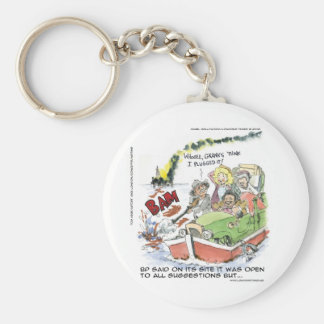 Shootin' At Some BP Crude Funny Gifts Tees Mugs Basic Round Button Keychain