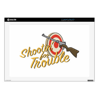 Shootin For Trouble Laptop Decal