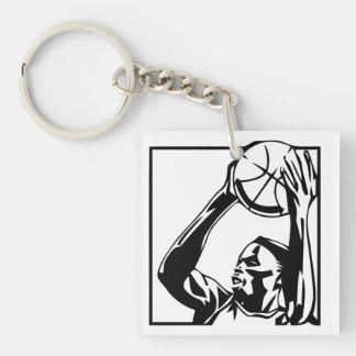 Shooting Basketball Player Key Chain