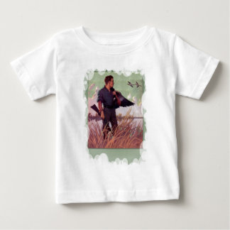 Shooting birds on the marshes baby T-Shirt