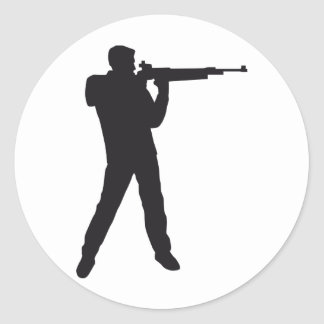 shooting classic round sticker