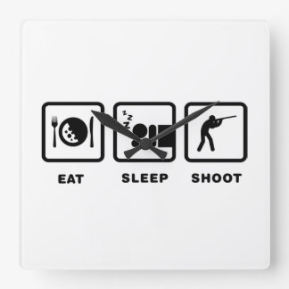 Shooting Square Wall Clocks
