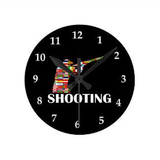 Shooting Round Wall Clocks