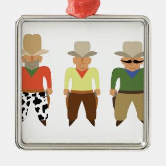 Shooting Gallery Cowboys Metal Ornament