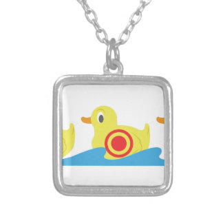 Shooting Gallery Ducks Square Pendant Necklace