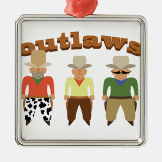 Shooting Gallery Outlaws Metal Ornament