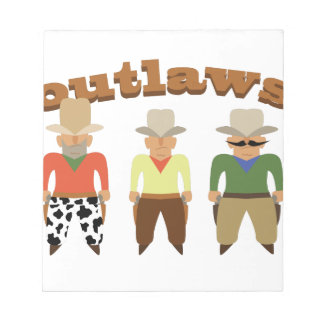 Shooting Gallery Outlaws Notepad