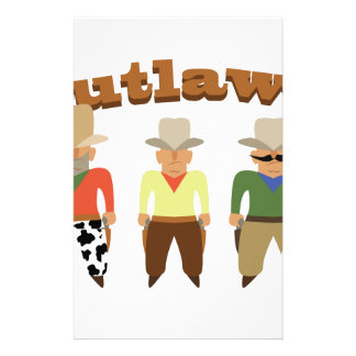 Shooting Gallery Outlaws Stationery