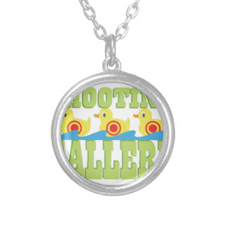 Shooting Gallery Round Pendant Necklace