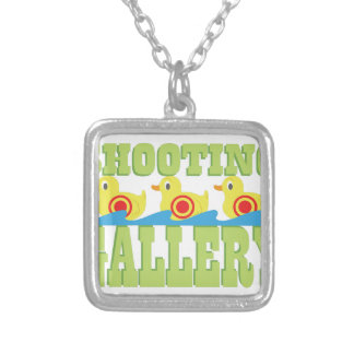Shooting Gallery Square Pendant Necklace