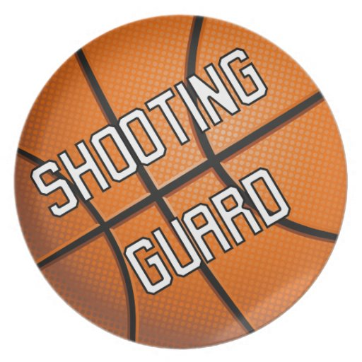 Shooting Guard Basketball Dinner Plate